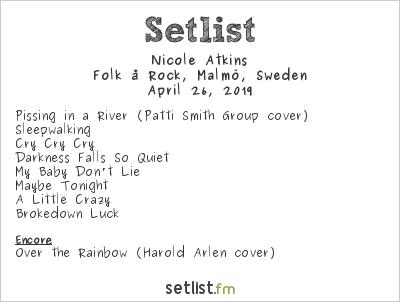 Nicole Atkins Setlist Folk å Rock, Malmö, Sweden 2019