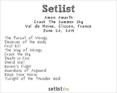Amon Amarth Setlist Knotfest Meets Hellfest 2019 2019, Crack The Summer Sky