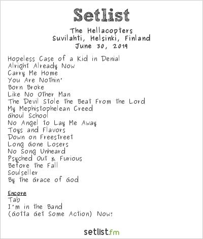 The Hellacopters Setlist Tuska 2019 2019
