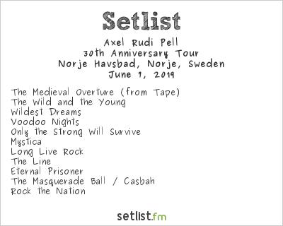 Axel Rudi Pell Setlist Sweden Rock Festival 2019 2019, 30th Anniversary Tour