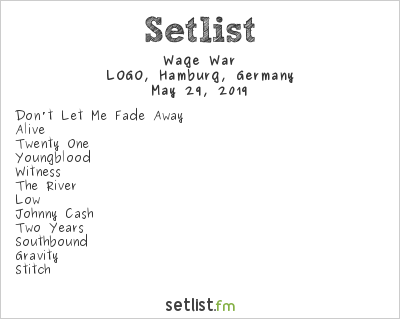 Wage War Setlist LOGO, Hamburg, Germany 2019