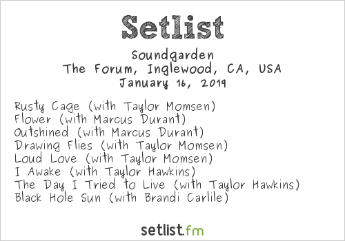 Soundgarden Setlist I Am the Highway: A Tribute to Chris Cornell 2019