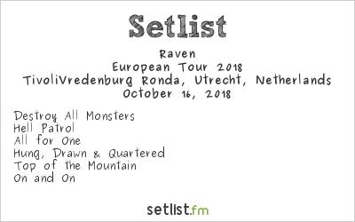 Raven Setlist TivoliVredenburg Ronda, Utrecht, Netherlands, European Tour 2018