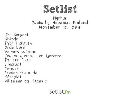 Myrkur Setlist Jäähalli, Helsinki, Finland 2018