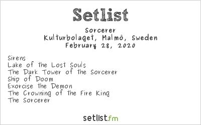 Sorcerer Setlist Kulturbolaget, Malmö, Sweden 2020