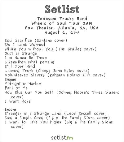 Tedeschi Trucks Band at Fox Theater, Atlanta, GA, USA Setlist