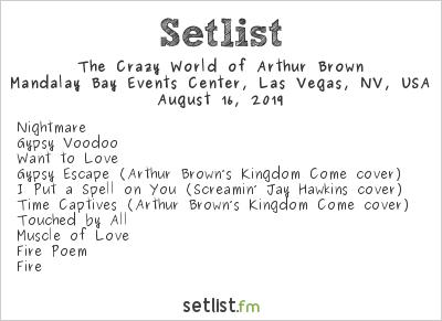 The Crazy World of Arthur Brown at Psycho Las Vegas 2019 Setlist