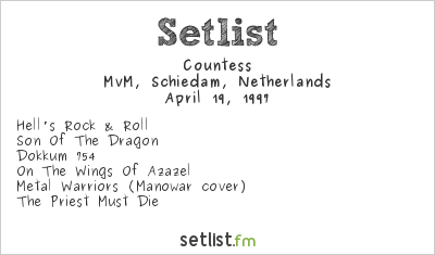 Countess Setlist MvM, Schiedam, Netherlands 1997