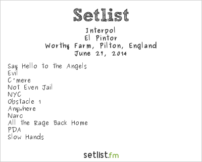 Interpol Setlist Glastonbury Festival 2014 2014