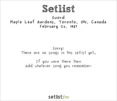 Megadeth Setlist Maple Leaf Gardens, Toronto, ON, Canada 1987, Wake Up Dead