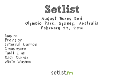 August Burns Red Setlist Soundwave Sydney 2014 2014