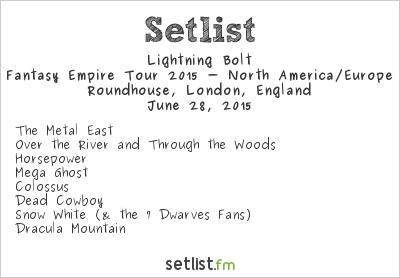 Lightning Bolt Setlist Roundhouse, London, England 2015