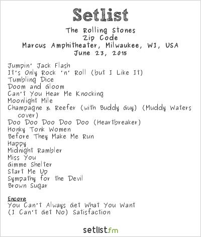 The Rolling Stones Setlist Summerfest 2015 2015, Zip Code