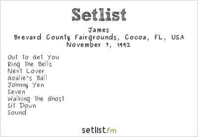 James Setlist Brevard County Fairgrounds, Cocoa, FL, USA 1992