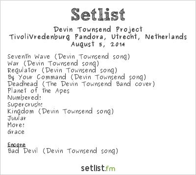 Devin Townsend Project Setlist Tivoli, Utrecht, Netherlands 2014