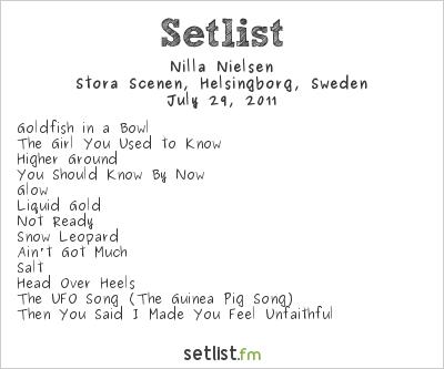 Nilla Nielsen Setlist Helsingborgsfestivalen 2011 2011