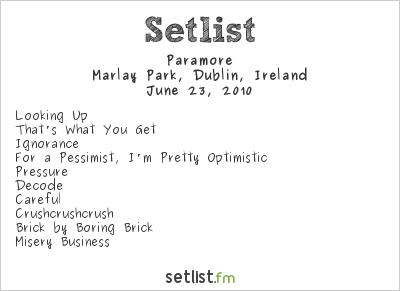 El Peso De La Vida: Green Day + Paramore + Joan Jett And ... Paramore Setlist