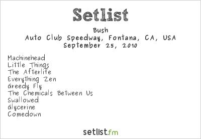 Bush Setlist Epicenter festival, Fontana, CA, USA 2010