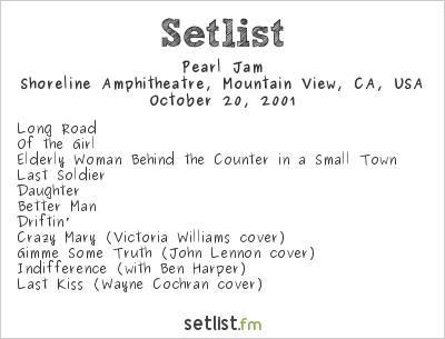 Pearl Jam Setlist Bridge School Benefit 2001 2001