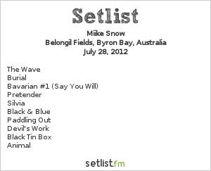 Miike Snow Setlist Splendour In The Grass 2012 2012