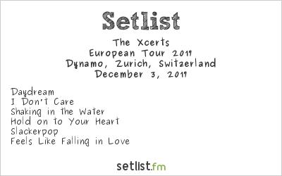 The Xcerts at Dynamo, Zurich, Switzerland Setlist