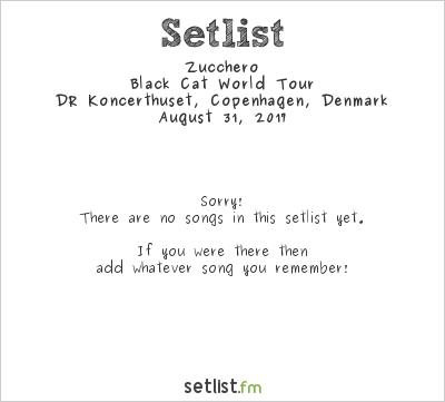 Zucchero Setlist DR Koncerthus, Copenhagen, Denmark 2017, Black Cat World Tour