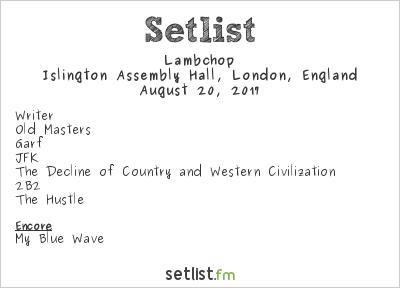 Lambchop Setlist Islington Assembly Hall, London, England 2017