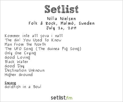 Nilla Nielsen Setlist Folk å Rock, Malmö, Sweden 2017