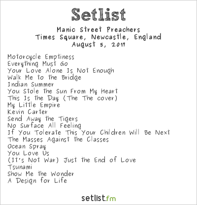 Manic Street Preachers Setlist Live from Times Square 2017 2017