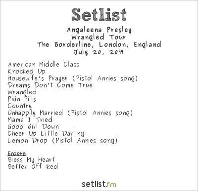 Angaleena Presley Setlist The Borderline, London, England 2017