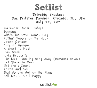 Drive-By Truckers at Jay Pritzker Pavilion - Millennium Park, Chicago, IL, USA Setlist