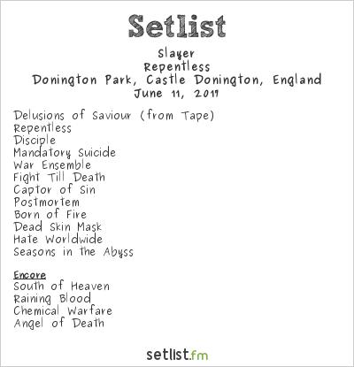 Slayer Setlist Download 2017 2017, Repentless