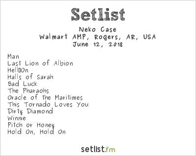 Neko Case Setlist Walmart AMP, Rogers, AR, USA 2018