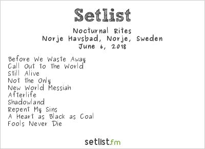 Nocturnal Rites Setlist Sweden Rock Festival 2018 2018