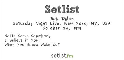 Bob Dylan at Saturday Night Live, New York, NY, USA Setlist