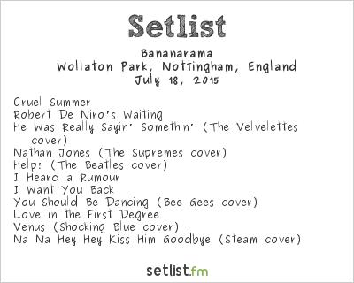 Bananarama Setlist Splendour Festival 2015 2015
