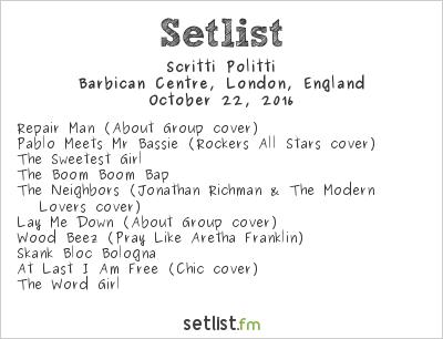 Scritti Politti Setlist Barbican Centre, London, England 2016
