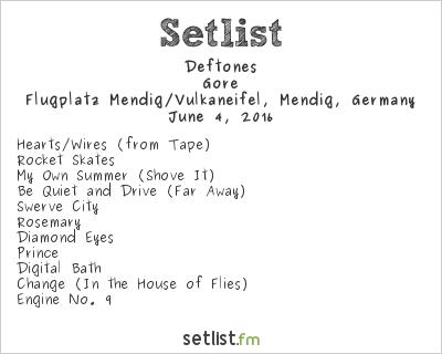 Deftones Setlist Rock am Ring 2016 2016, Gore