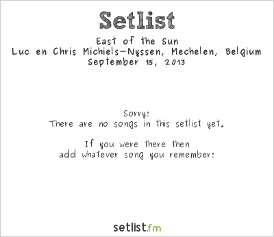 East of the Sun at Jazz At Home 2013 Setlist