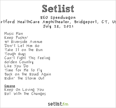 REO Speedwagon at Hartford HealthCare Amphitheater, Bridgeport, CT, USA Setlist