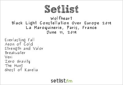 Wolfheart Setlist La Maroquinerie, Paris, France 2019