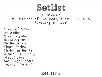 Al Stewart Setlist On the Blue Cruise 2019 2019