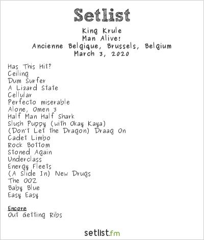 King Krule Setlist Ancienne Belgique, Brussels, Belgium 2020, Man Alive!
