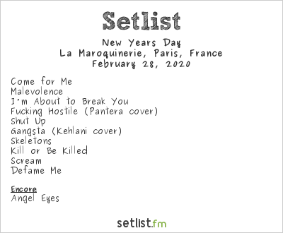New Years Day Setlist La Maroquinerie, Paris, France 2020