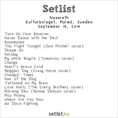 Nazareth Setlist Kulturbolaget, Malmö, Sweden 2019