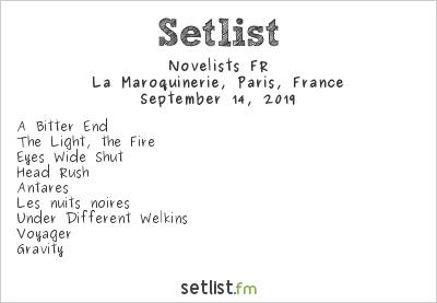 Novelists Setlist La Maroquinerie, Paris, France 2019