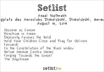 Anaal Nathrakh Setlist Summer Breeze 2019 2019