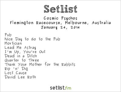 Cosmic Psychos Setlist Big Day Out Melbourne 2014 2014