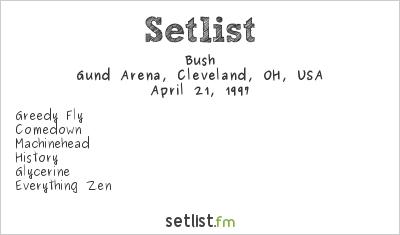 Bush Setlist Gund Arena, Cleveland, OH, USA 1997