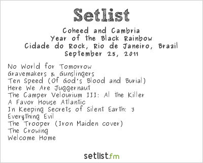 Coheed and Cambria Setlist Rock In Rio 4 2011